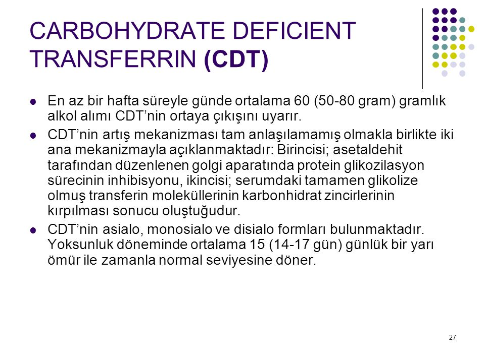 CARBOHYDRATE DEFICIENT TRANSFERRIN (CDT)
