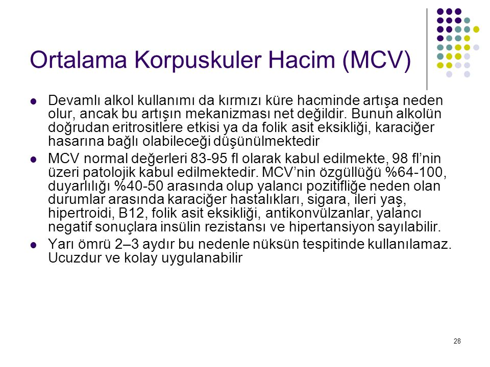 Ortalama Korpuskuler Hacim (MCV)