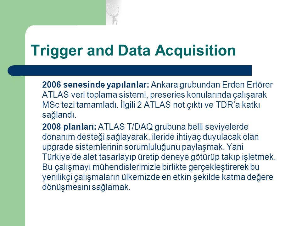 Trigger and Data Acquisition