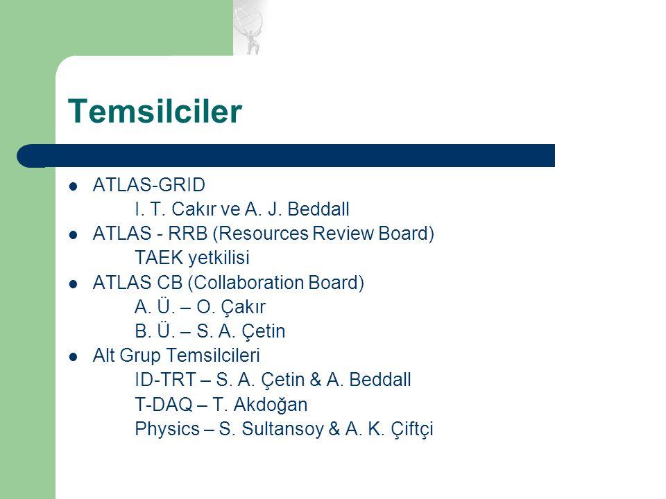 Temsilciler ATLAS-GRID I. T. Cakır ve A. J. Beddall