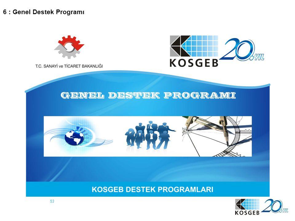 6 : Genel Destek Programı