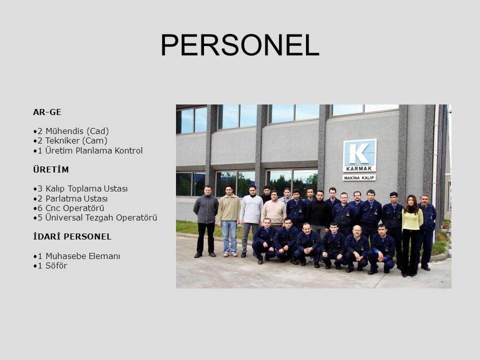 PERSONEL AR-GE 2 Mühendis (Cad) 2 Tekniker (Cam)