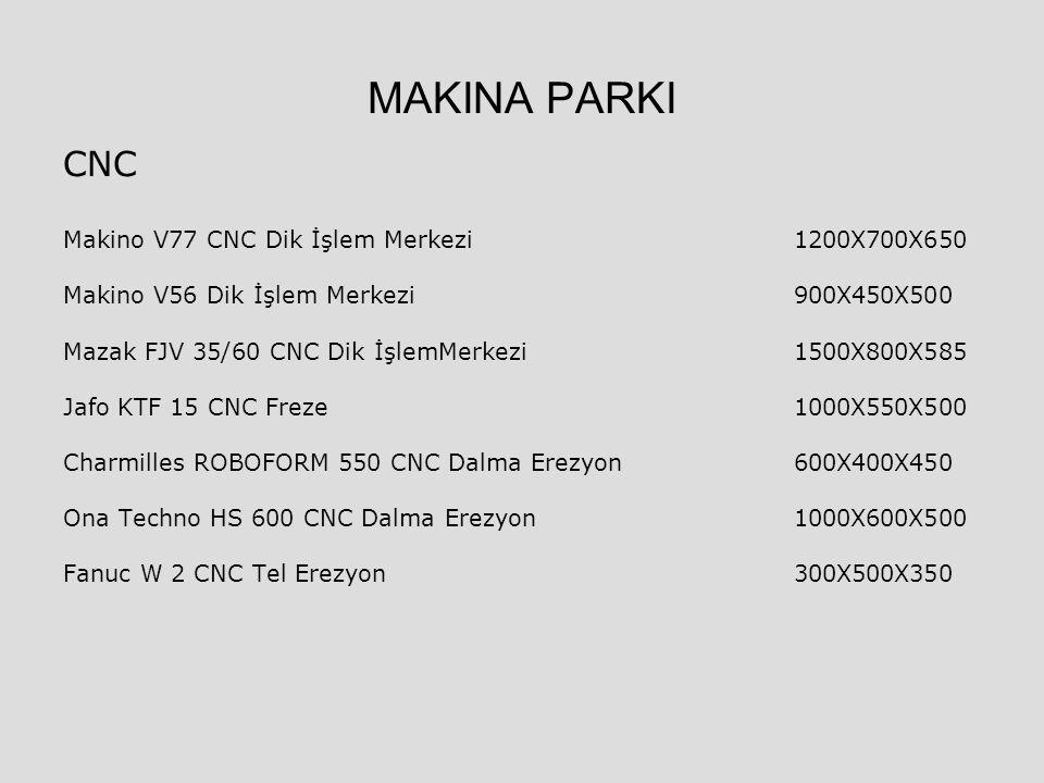 MAKINA PARKI CNC Makino V77 CNC Dik İşlem Merkezi 1200X700X650