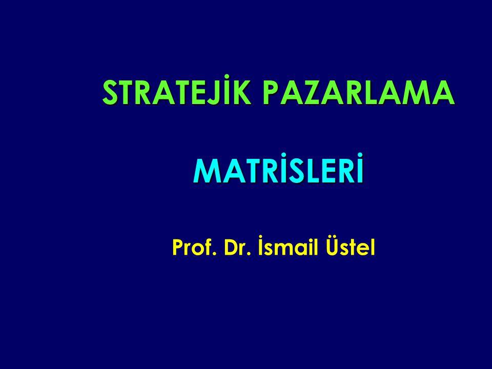 STRATEJİK PAZARLAMA MATRİSLERİ