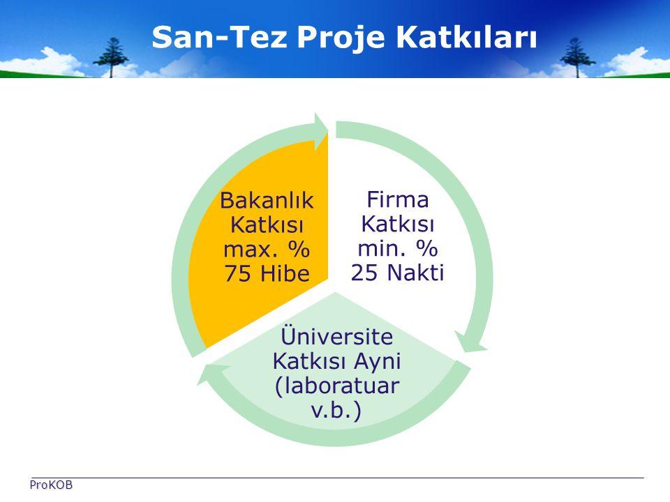 San-Tez Proje Katkıları