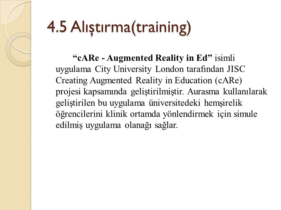 4.5 Alıştırma(training)