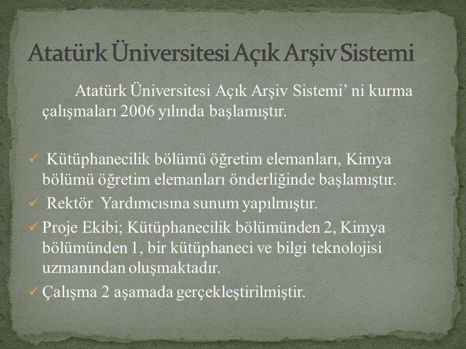 Atatürk Üniversitesi Açık Arşiv Sistemi