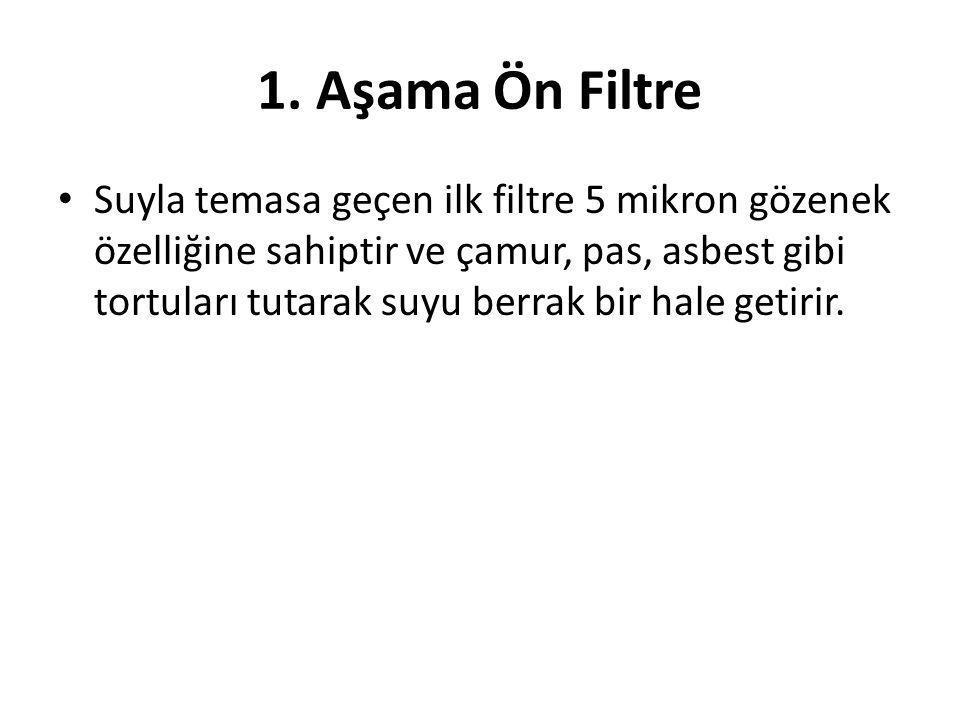1. Aşama Ön Filtre