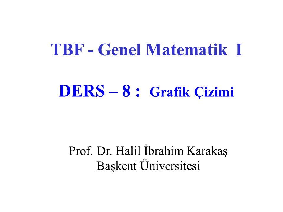 TBF - Genel Matematik I DERS – 8 : Grafik Çizimi