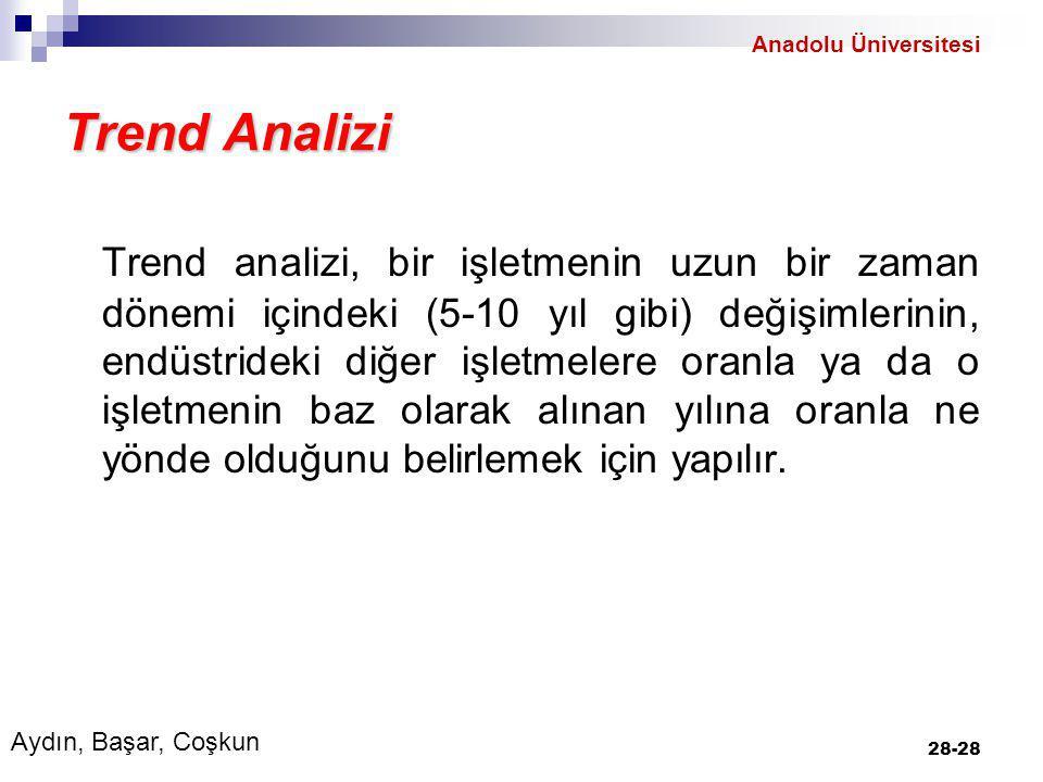 Anadolu Üniversitesi Trend Analizi.