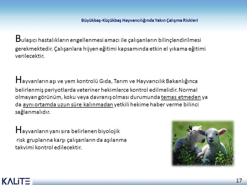 Hayvanların yanı sıra belirlenen biyolojik