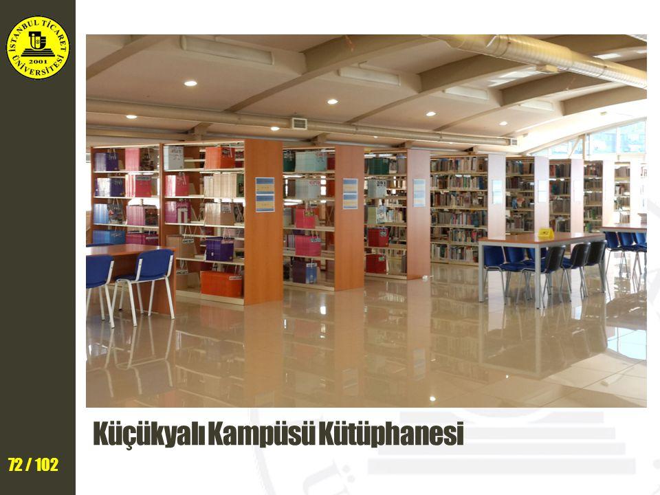 Küçükyalı Kampüsü Kütüphanesi