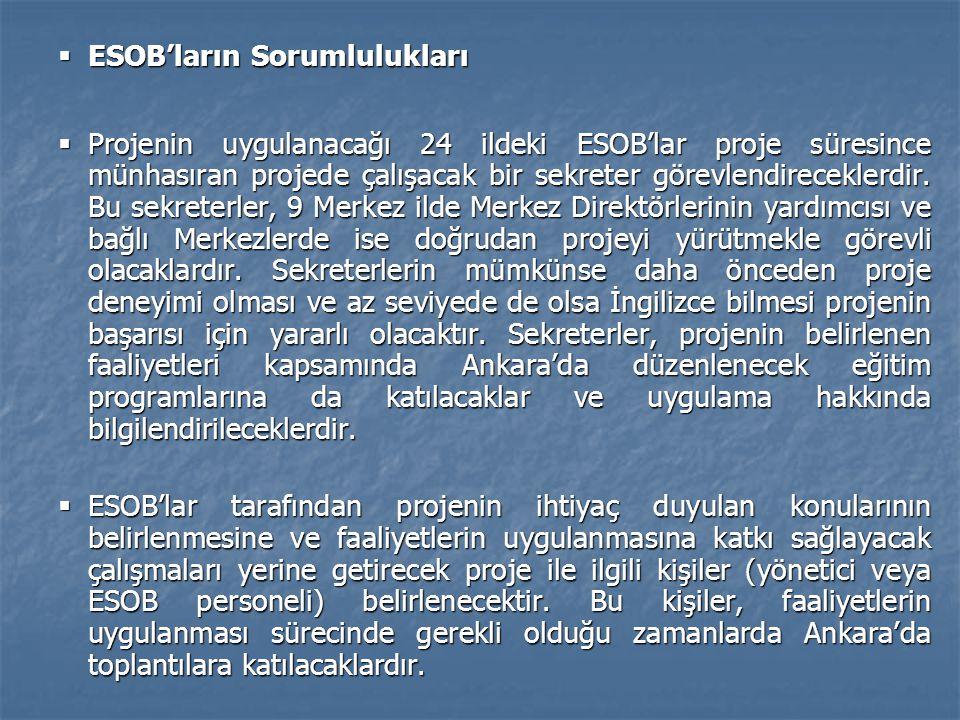 ESOB'ların Sorumlulukları