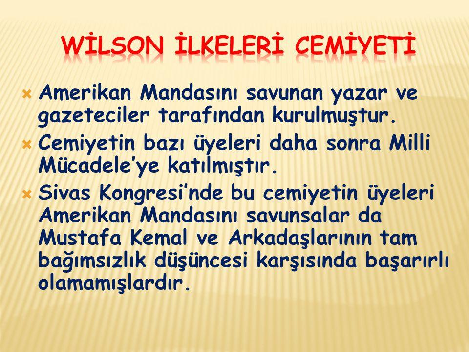 WİLSON İLKELERİ CEMİYETİ
