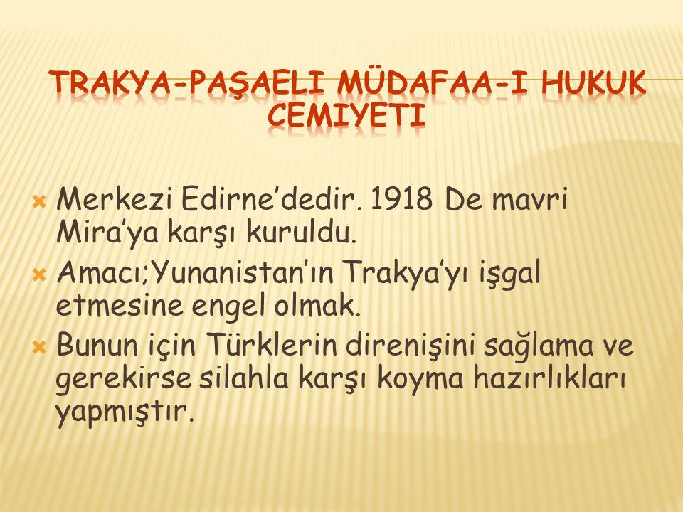 Trakya-Paşaeli Müdafaa-i Hukuk Cemiyeti