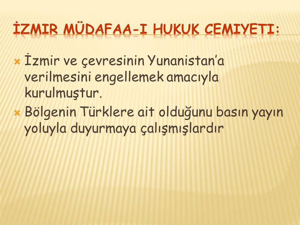 İzmir Müdafaa-i Hukuk Cemiyeti: