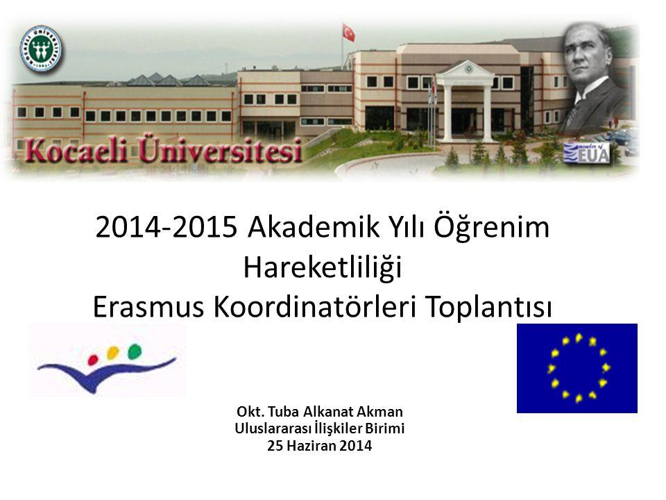 Okt. Tuba Alkanat Akman Uluslararası İlişkiler Birimi 25 Haziran 2014