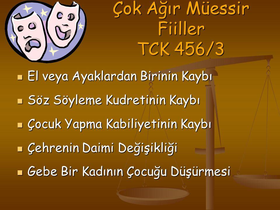 Çok Ağır Müessir Fiiller TCK 456/3