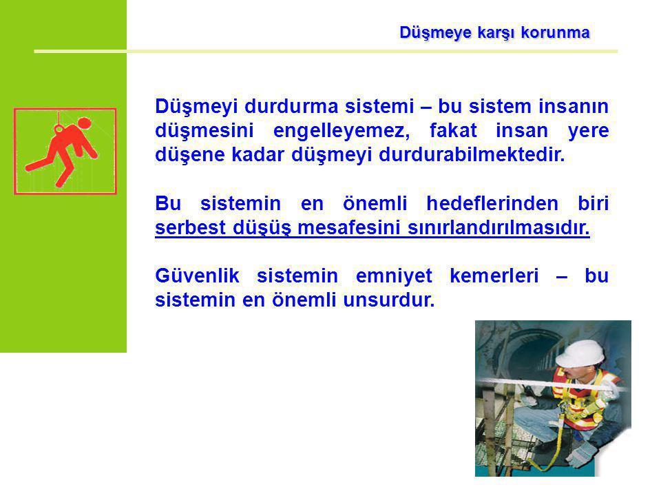 Güvenlik sistemin emniyet kemerleri – bu sistemin en önemli unsurdur.