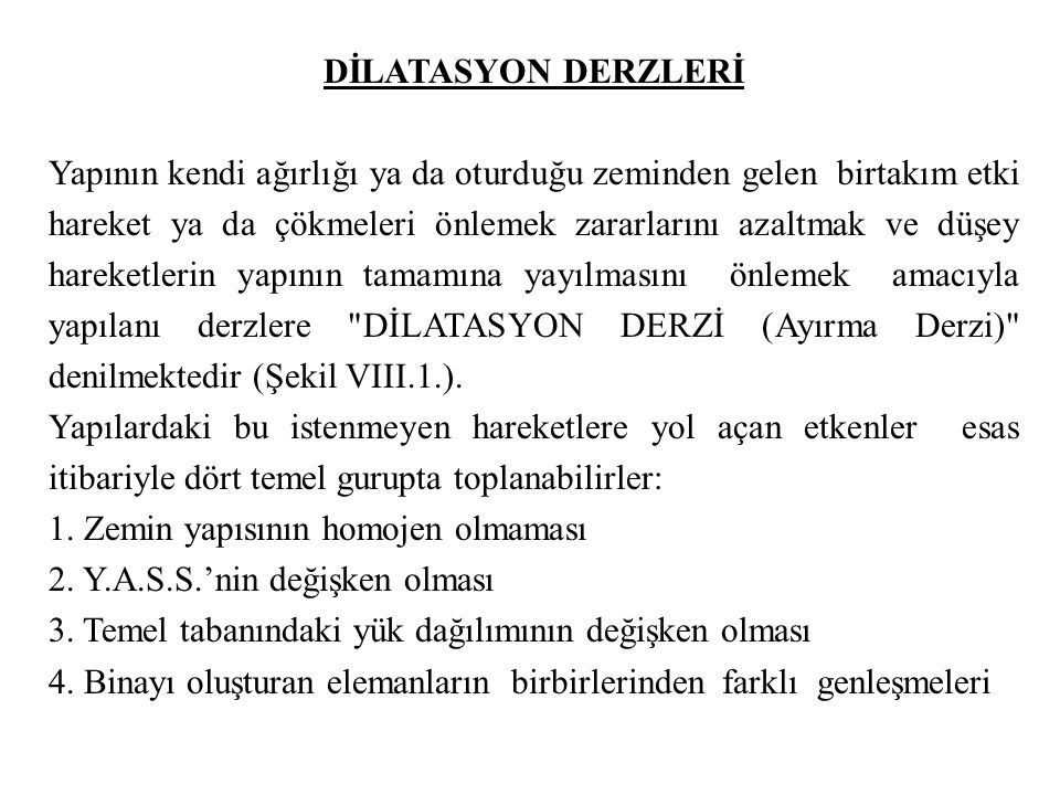 DİLATASYON DERZLERİ