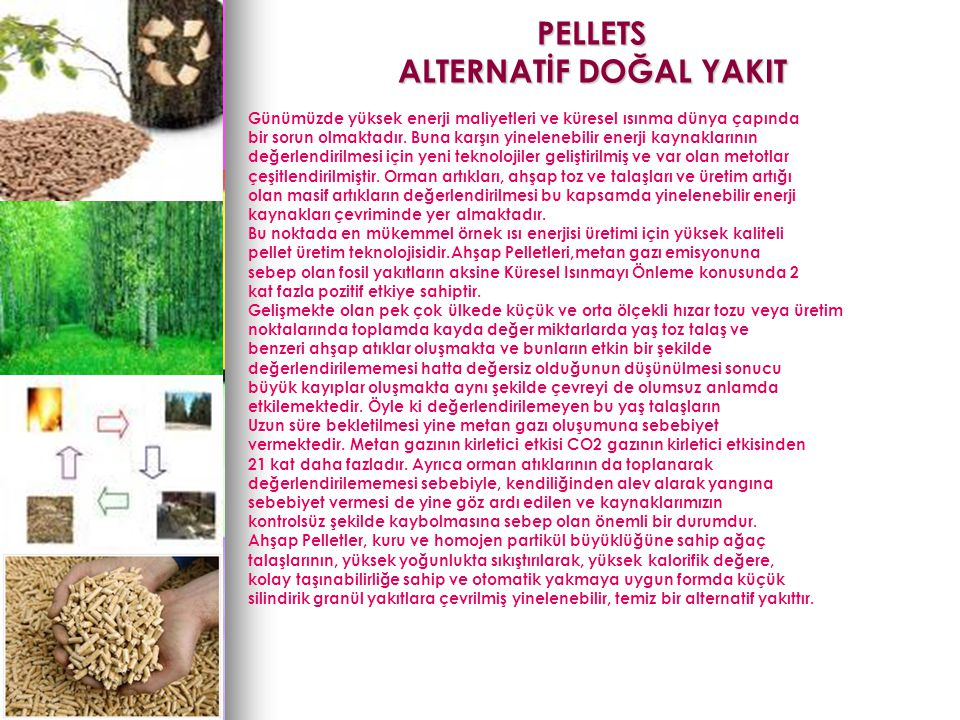 PELLETS ALTERNATİF DOĞAL YAKIT