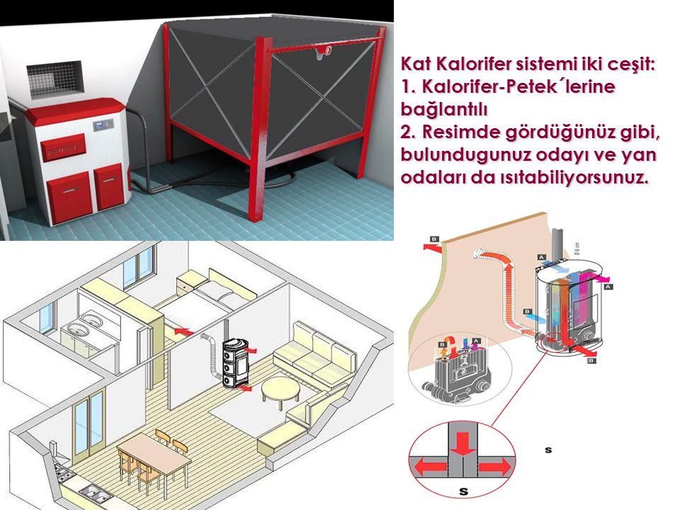 Kat Kalorifer sistemi iki ceşit: 1. Kalorifer-Petek´lerine bağlantılı 2.
