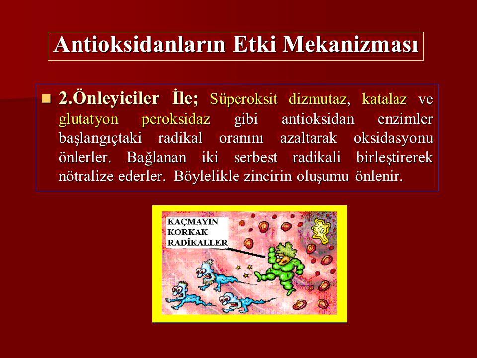 Antioksidanların Etki Mekanizması
