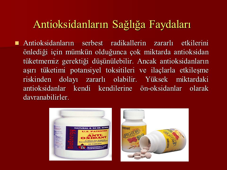 Antioksidanların Sağlığa Faydaları