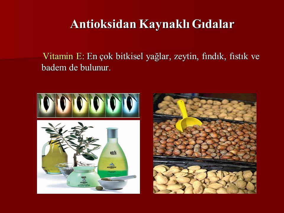 Antioksidan Kaynaklı Gıdalar