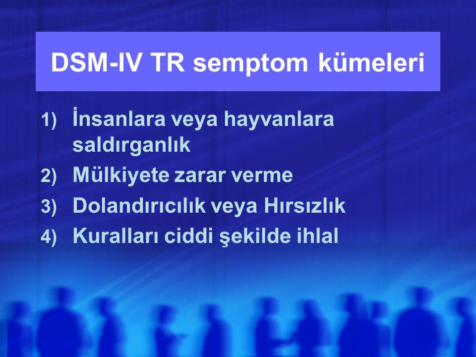 DSM-IV TR semptom kümeleri