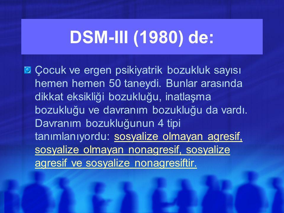 DSM-III (1980) de: