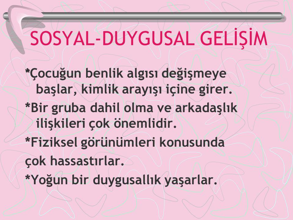 SOSYAL-DUYGUSAL GELİŞİM
