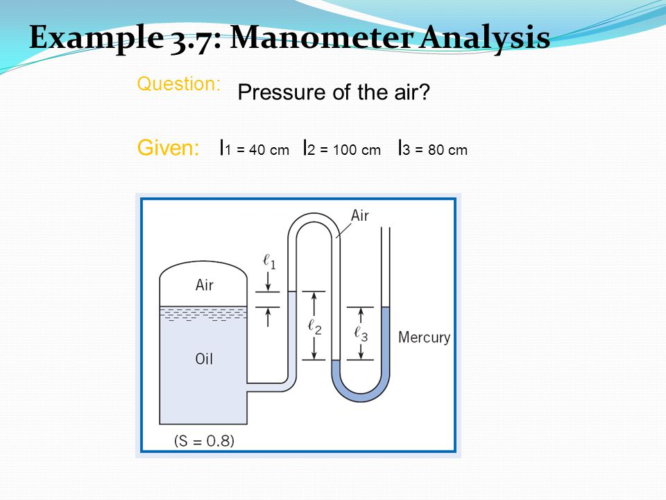 Example 3.7: Manometer Analysis