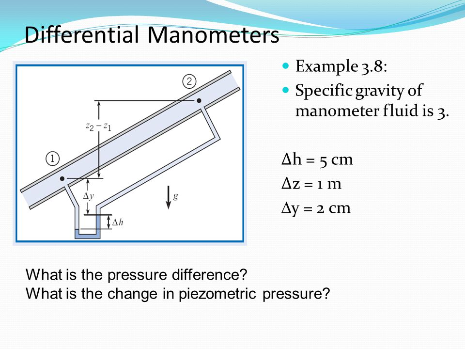 Differential Manometers