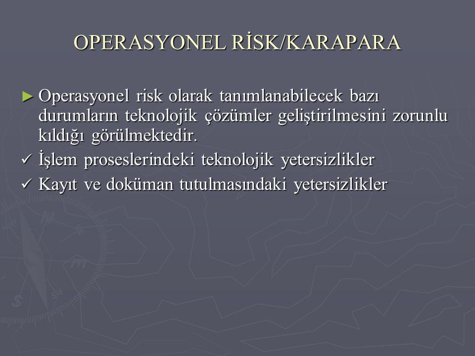 OPERASYONEL RİSK/KARAPARA