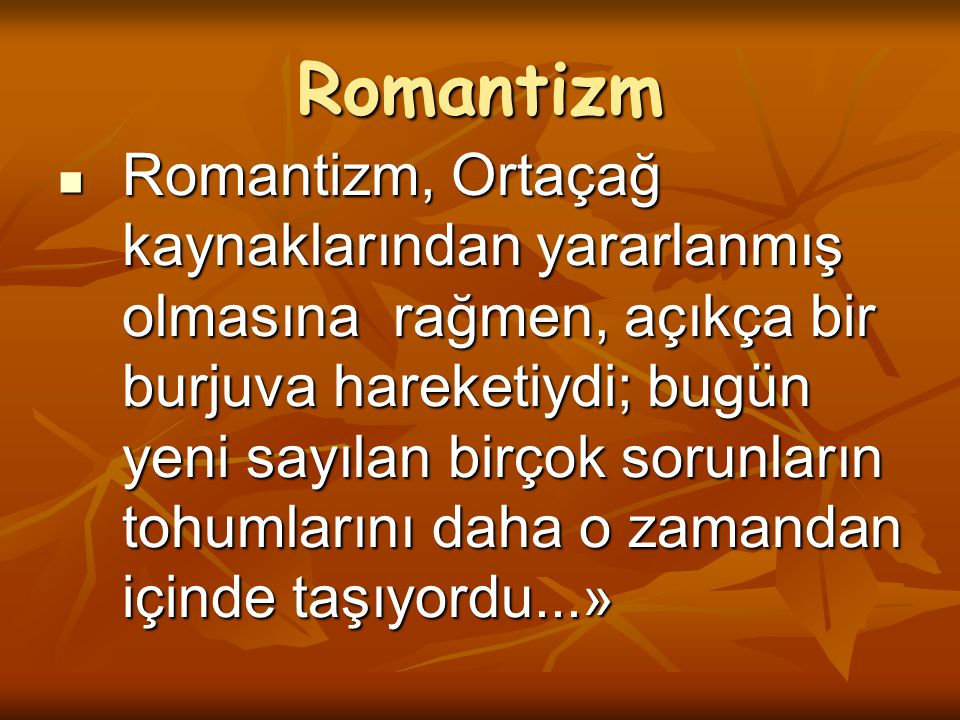 Romantizm