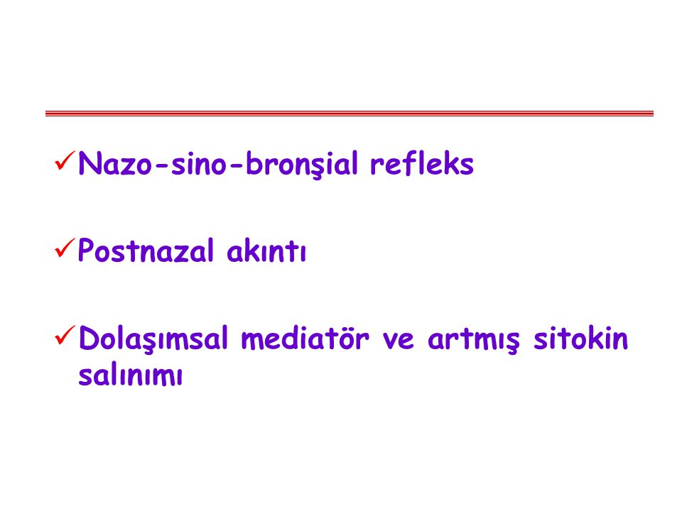 Nazo-sino-bronşial refleks