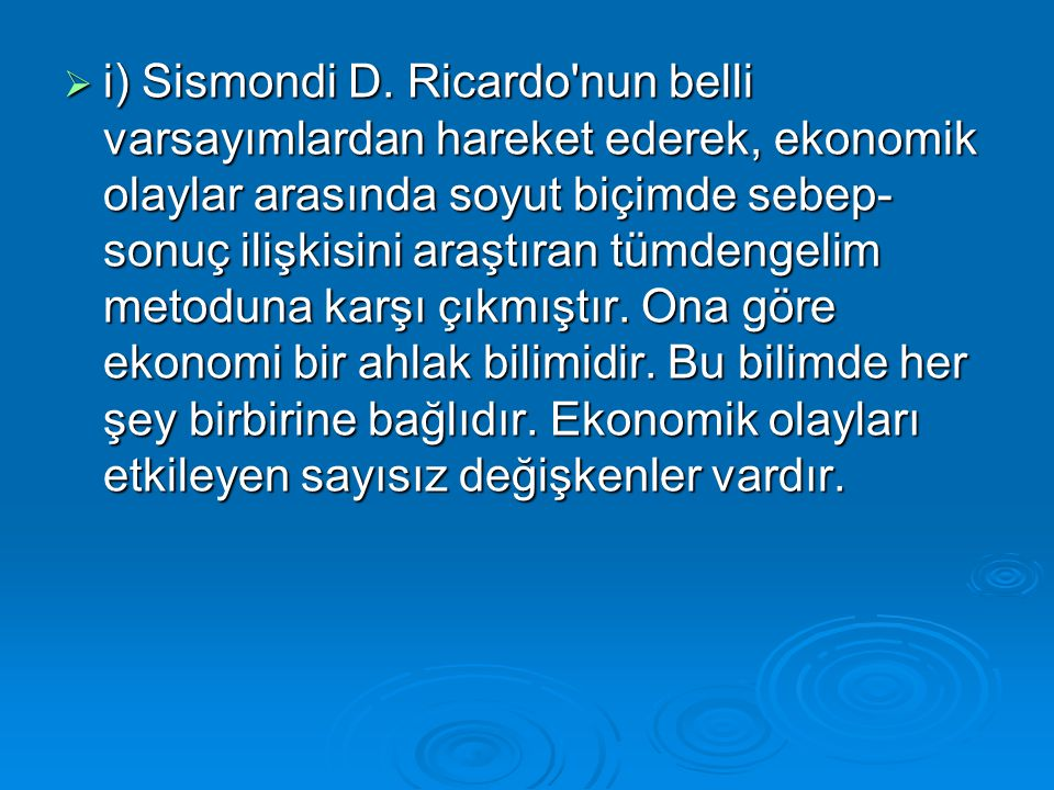 i) Sismondi D.