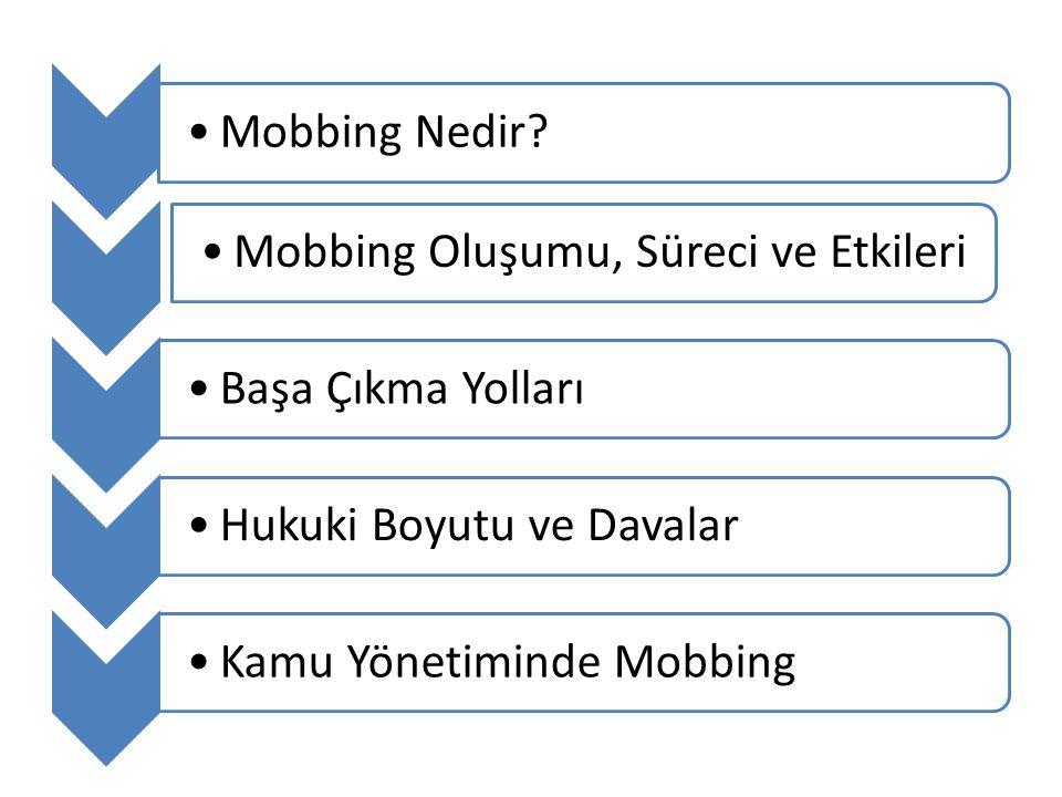 Mobbing Nedir Mobbing Oluşumu, Süreci ve Etkileri. Başa Çıkma Yolları. Hukuki Boyutu ve Davalar.