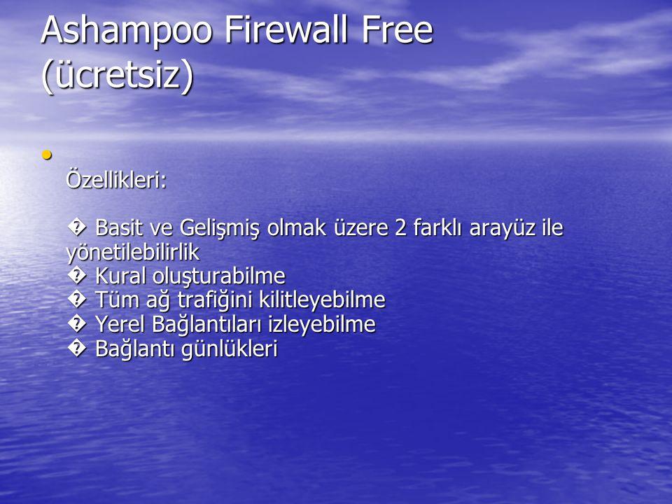 Ashampoo Firewall Free (ücretsiz)