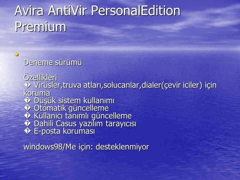 Avira AntiVir PersonalEdition Premium