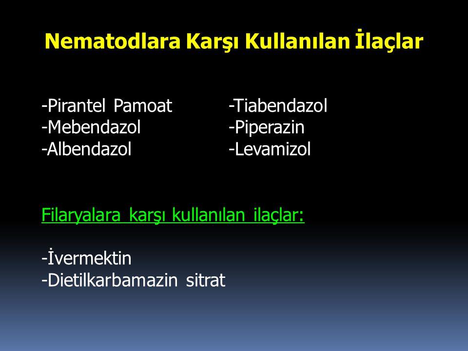 Nematodlara Karşı Kullanılan İlaçlar