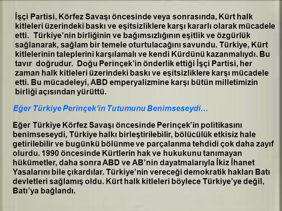 İşçi Partisi, Körfez Savaşı öncesinde veya sonrasında, Kürt halk