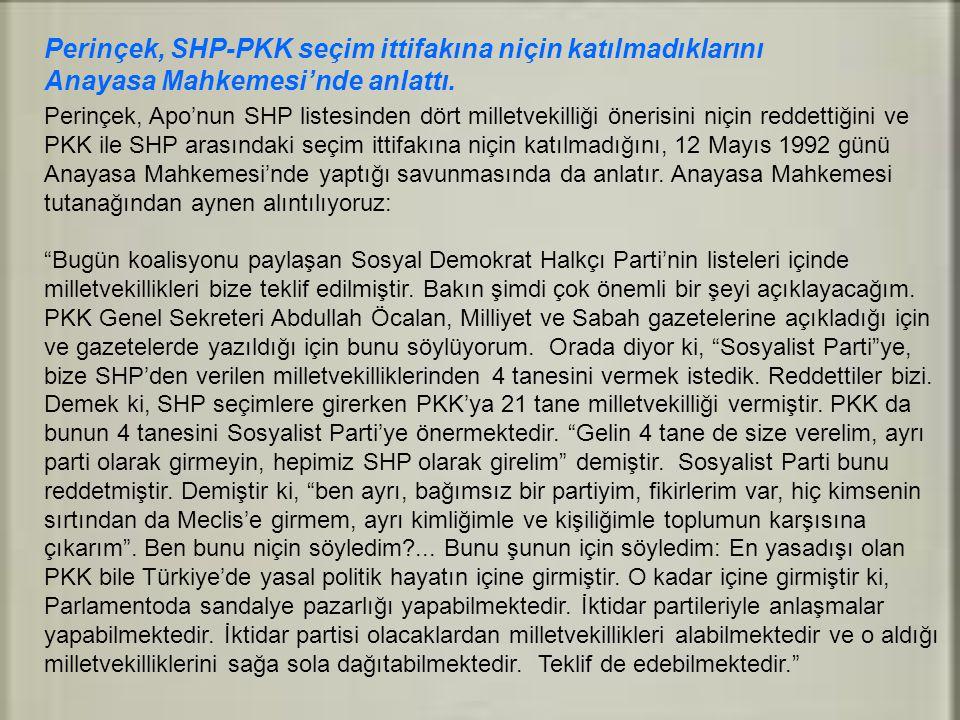 Perinçek, SHP-PKK seçim ittifakına niçin katılmadıklarını