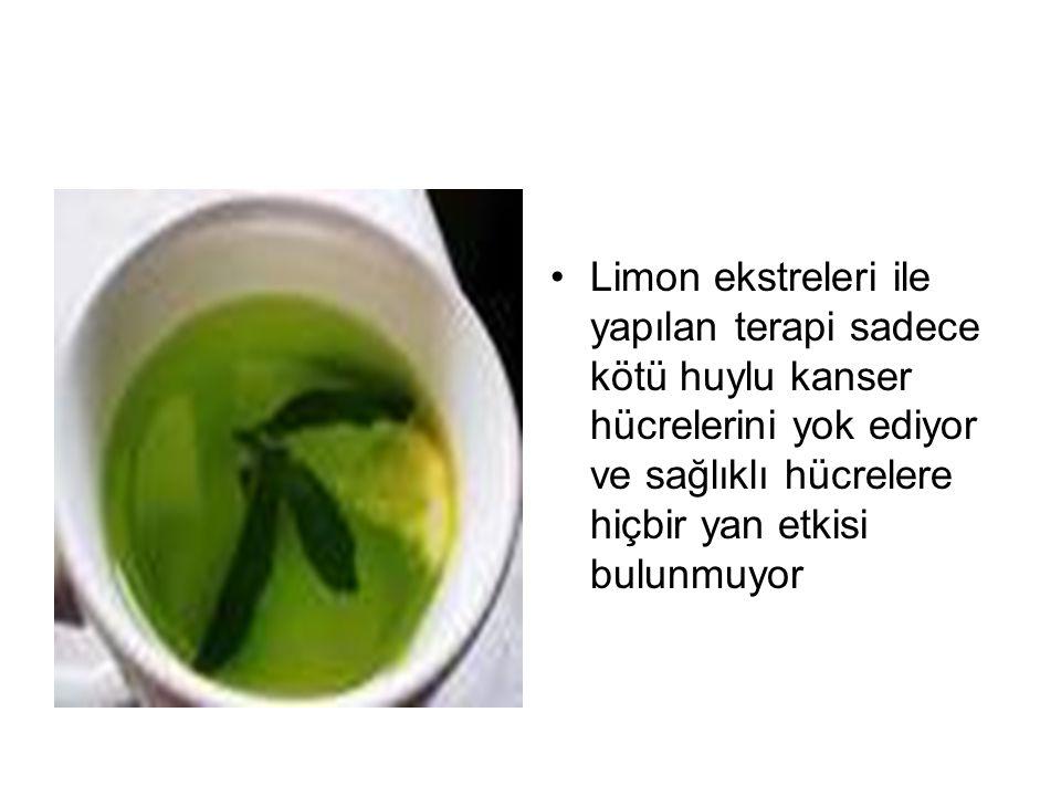 Limon ekstreleri ile yapılan terapi sadece kötü huylu kanser hücrelerini yok ediyor ve sağlıklı hücrelere hiçbir yan etkisi bulunmuyor