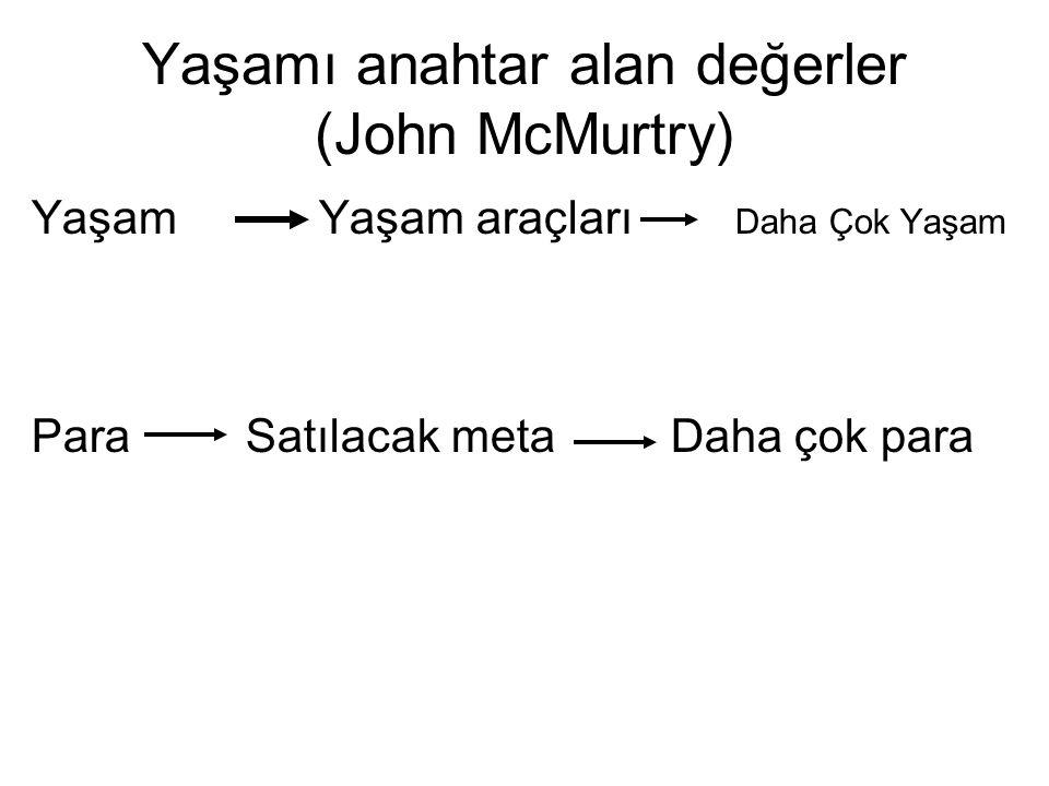Yaşamı anahtar alan değerler (John McMurtry)
