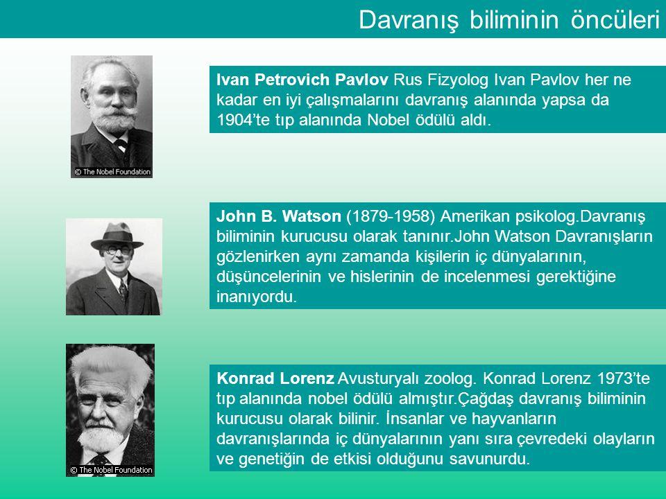 Davranış biliminin öncüleri