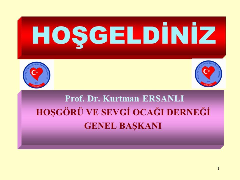 Prof. Dr. Kurtman ERSANLI HOŞGÖRÜ VE SEVGİ OCAĞI DERNEĞİ GENEL BAŞKANI