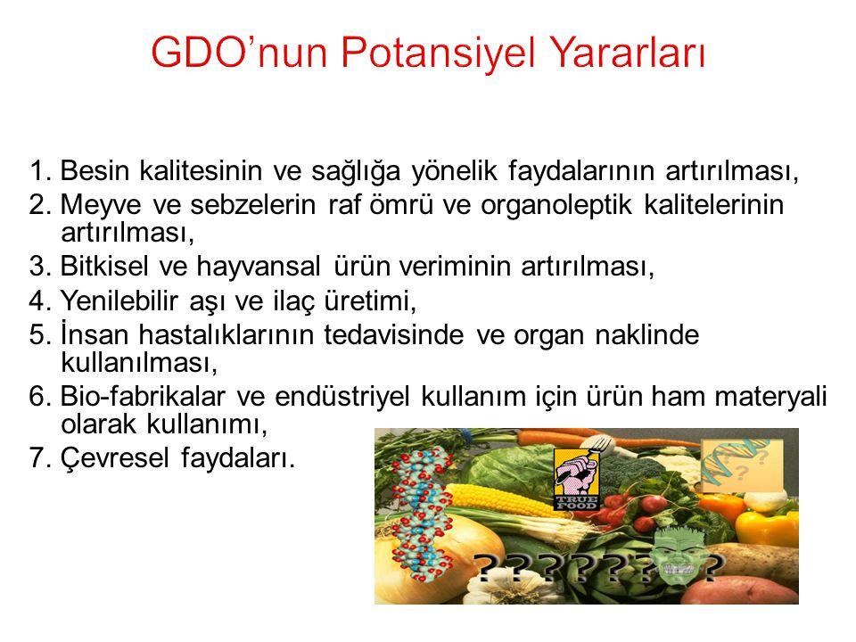 GDO'nun Potansiyel Yararları