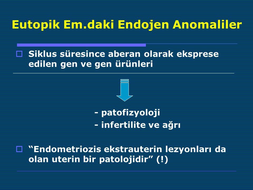 Eutopik Em.daki Endojen Anomaliler